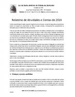 Relatório de Actividades e Contas2014_web