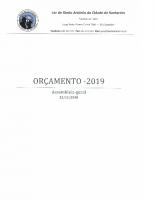 Orçamento para 2019